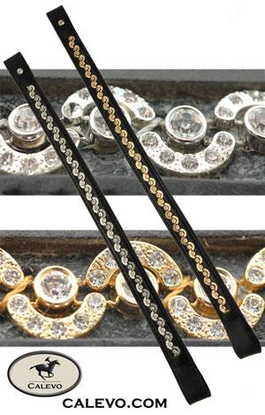 Schumacher - Stirnband mit Kristallen - gold eingefasst