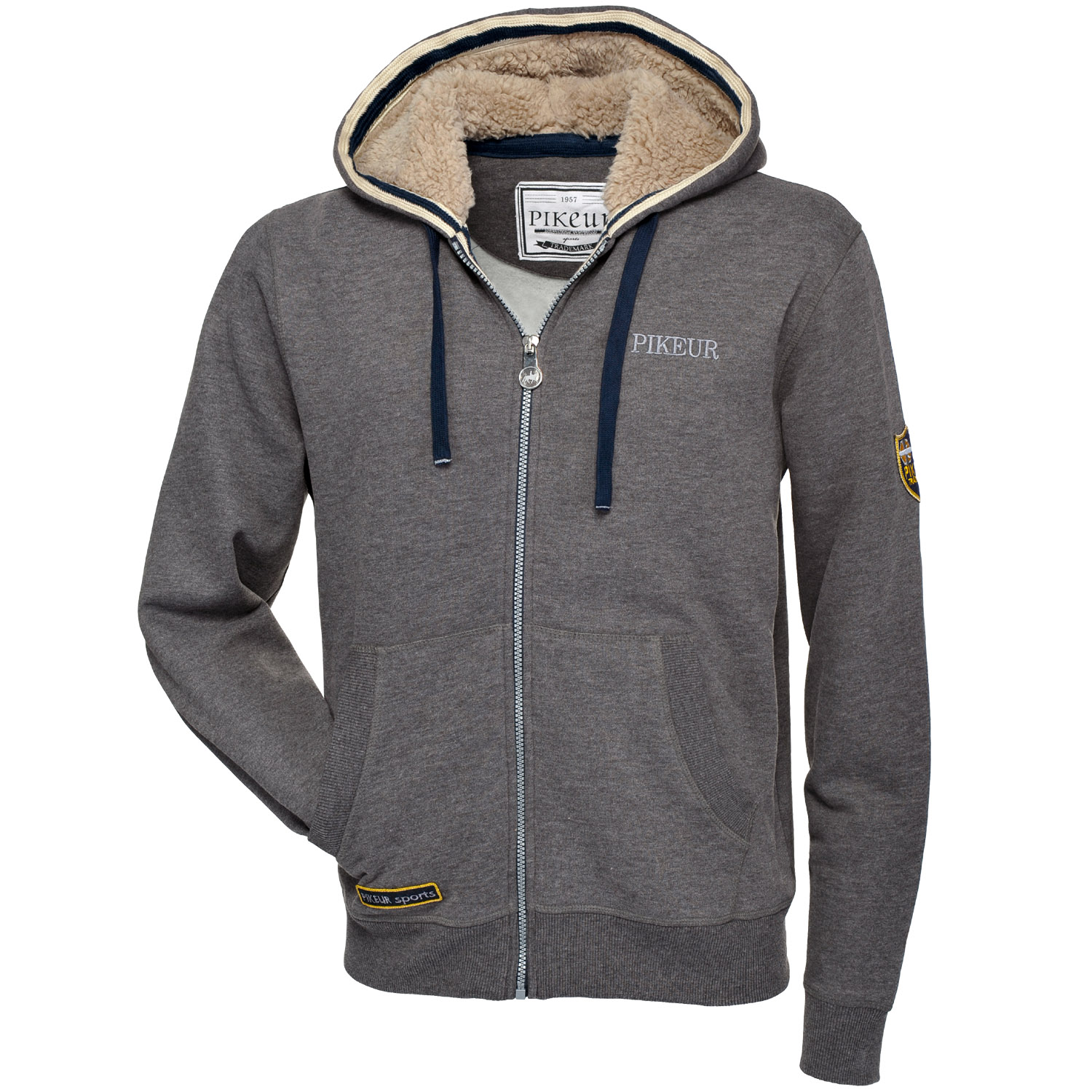 pikeur herren sweat jacke mit kapuze clemens ebay. Black Bedroom Furniture Sets. Home Design Ideas