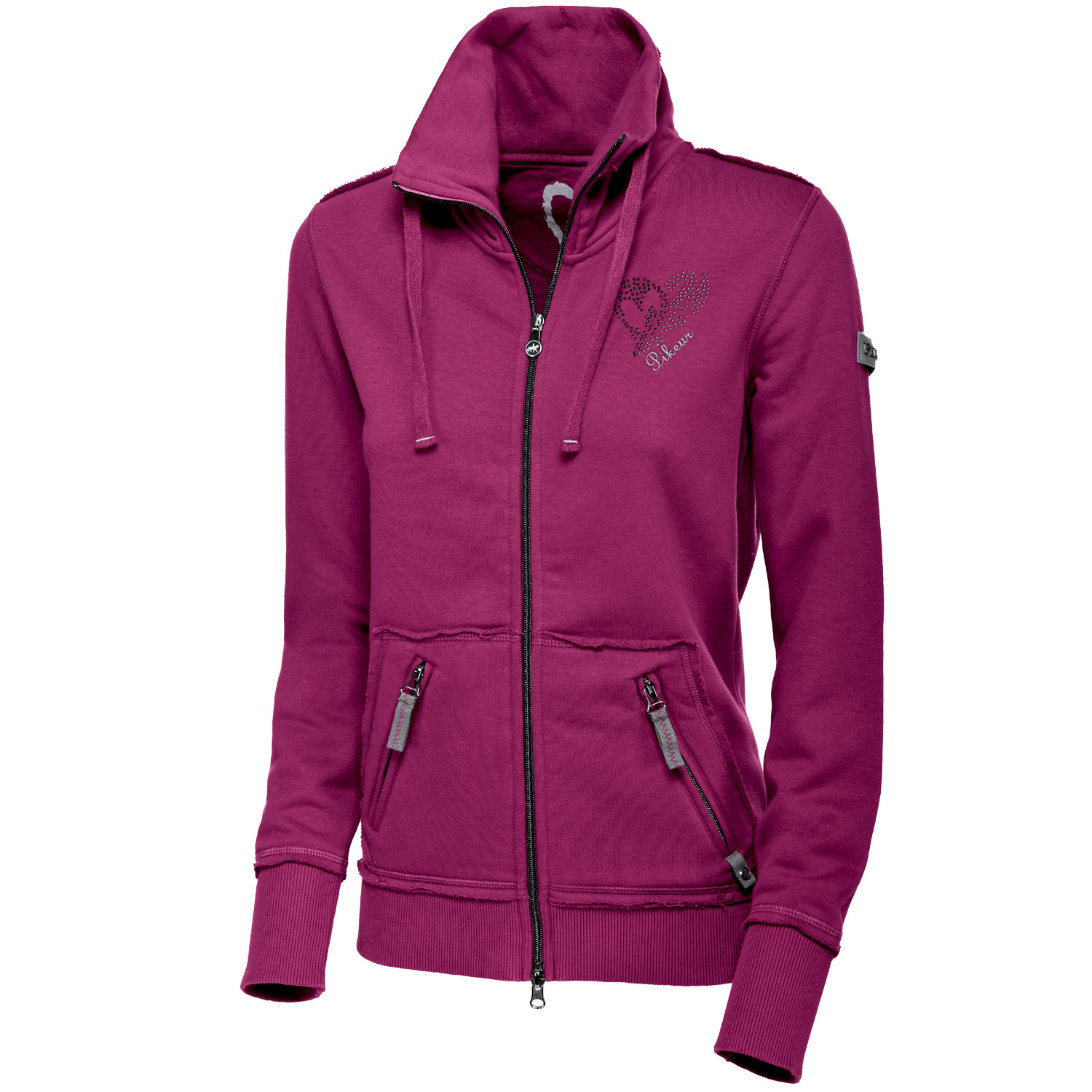pikeur damen sweat jacke alisha next generation ebay. Black Bedroom Furniture Sets. Home Design Ideas