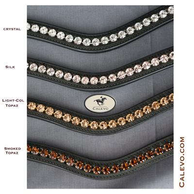 Schumacher geschwungenes Stirnband mit XL Crystals einfarbig CALEVO.com Shop