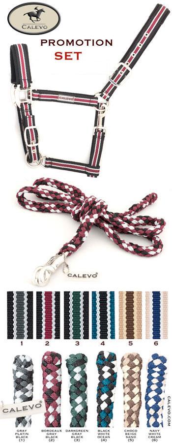 Calevo - Stallhalfter-SET Halfter+Strick STRIPES CALEVO.com Shop