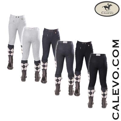 Cavallo - Kinder Baumwoll-Reithose mit Kniebesatz BIG BEN CALEVO.com Shop
