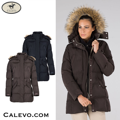 Equiline - Damen Stepp Mantel BLANCH CALEVO.com Shop
