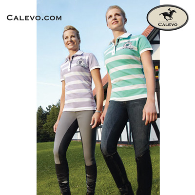 pikeur striped ladies polo shirt ines eur. Black Bedroom Furniture Sets. Home Design Ideas