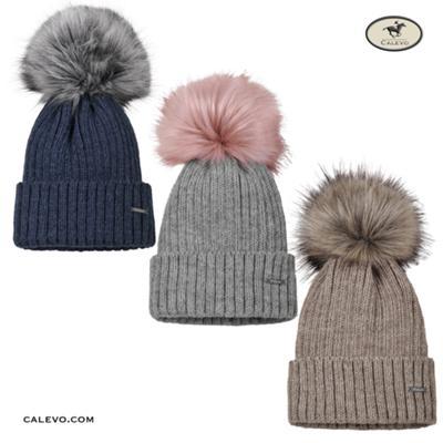 Pikeur - Strickm�tze mit Kontrast-Bommel - WINTER 2019 CALEVO.com Shop