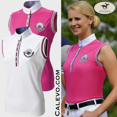 Pikeur - Damen Turniershirt ohne Arm mit Streifenkontrasten CALEVO.com Shop