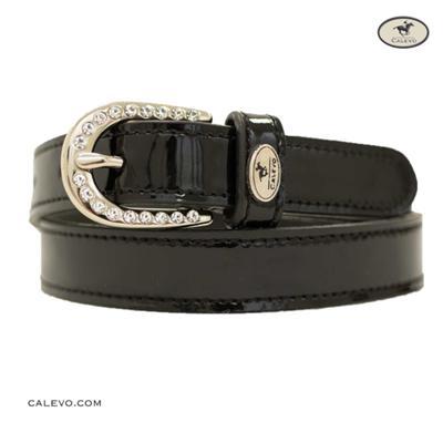 Calevo - Lack-Ledergürtel CRYSTAL-BUCKLE -- CALEVO.com Shop