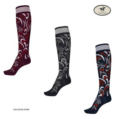 Pikeur - Kniestr�mpfe PATTERN ALLOVER - WINTER 2020 CALEVO.com Shop