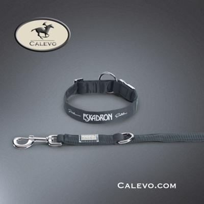 Eskadron SET Hundehalsband+Leine GLOSSY - PLATINUM CALEVO.com Shop