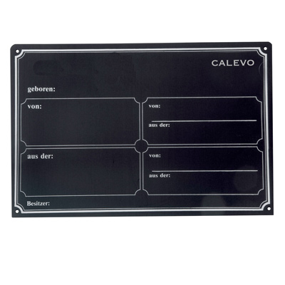 Boxenschild aus Metall CALEVO.com Shop