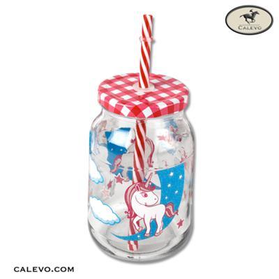Trinkglas mit Strohhalm CALEVO.com Shop
