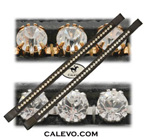 Schumacher browband with crystals - silver / gold setted CALEVO.com Shop