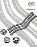 Schumacher - swung browband with crystals - single-colored CALEVO.com Shop