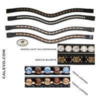 Schumacher - swung browband with crystals 2-colored CALEVO.com Shop