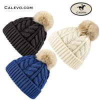 Cavallo - Zopf-Strickm�tze mit Pelz-Bommel DUNE CALEVO.com Shop
