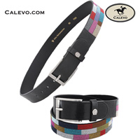 Schumacher - leather belt Crystal Finest MULTI CALEVO.com Shop