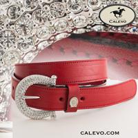 Schumacher - leather belt with crystal buckle CALEVO.com Shop
